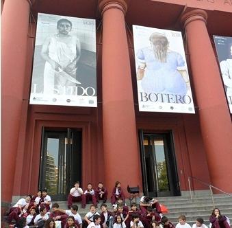 Sexto año visita el Museo Nacional de Bellas Artes
