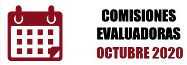 COMISIONES EVALUADORAS: OCTUBRE 2020