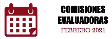 COMISIONES EVALUADORAS: FEBRERO 2021