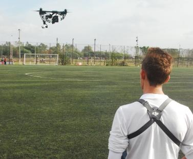 Clase con dron