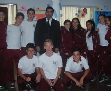 Visita del periodista deportivo Juan Carlos Sosa