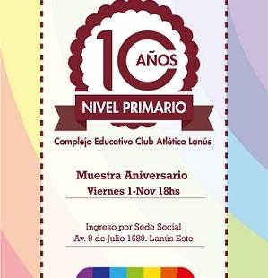 """Muestra Aniversario """"10 años"""" Nivel Primario"""
